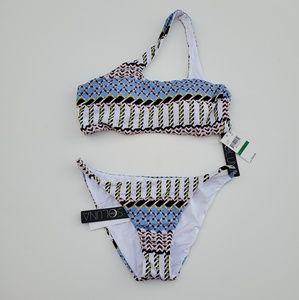 Soluna//Assymetrical Bikini Set Top Bottom Crescen